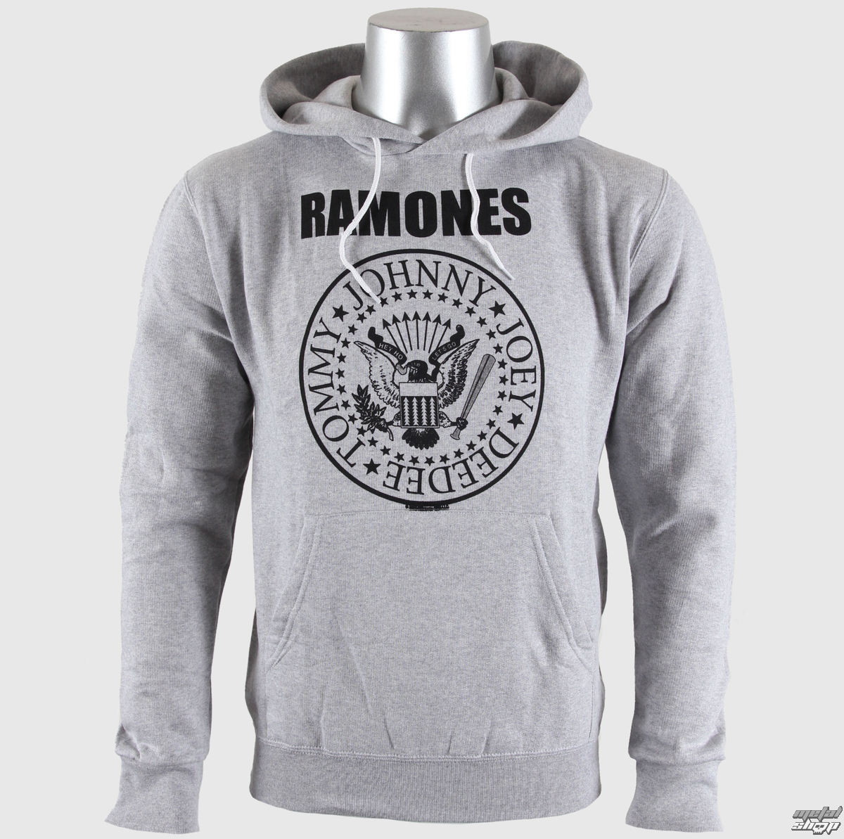 363a51bff0 kapucnis pulóver férfi Ramones - Seal Logo Gry - BRAVADO EU ...
