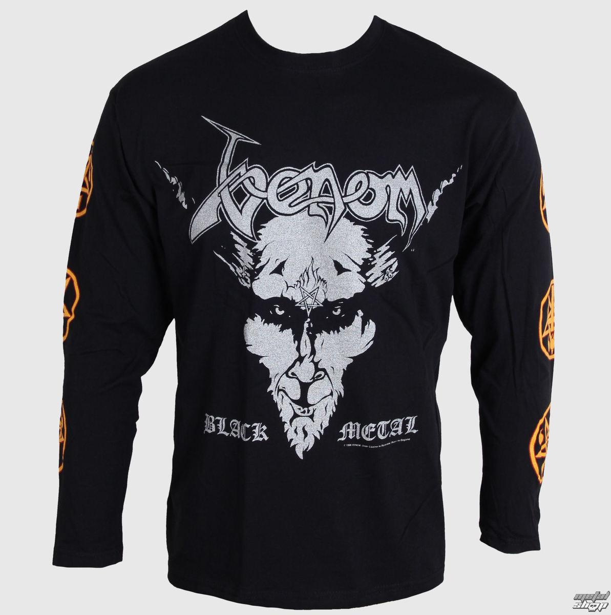 0a7278f30e hosszú ujjú férfi póló Venom - Black Metal - RAZAMATAZ - CL0008 ...