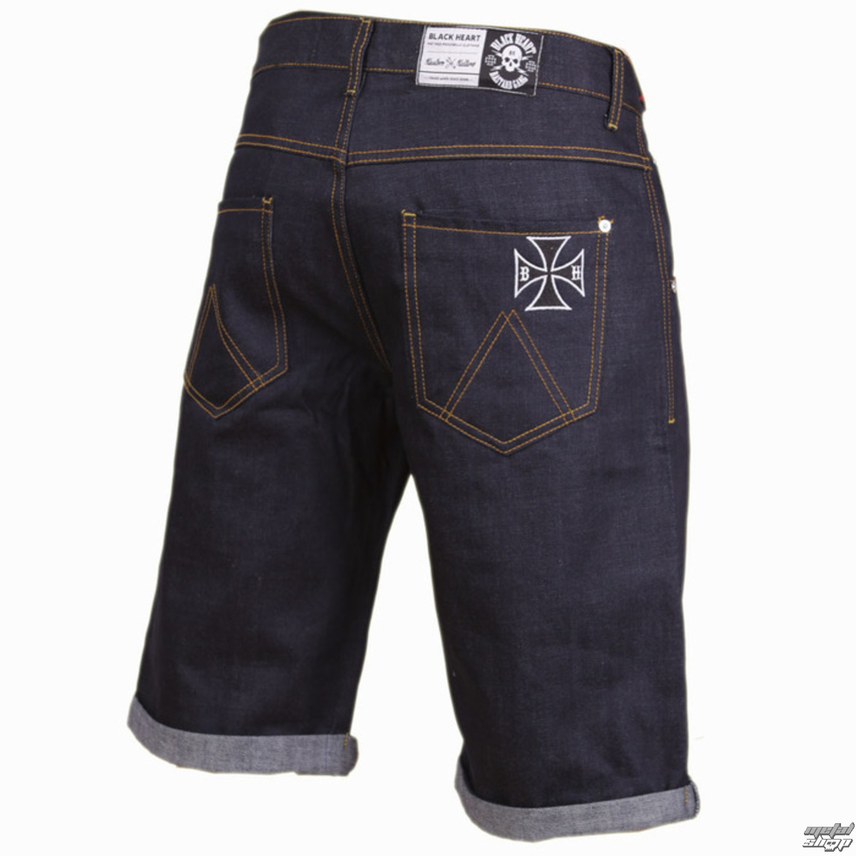 7314b4034b BLACK HEART férfi rövidnadrág - Cross - Denim - BH161 - Metalshop.hu