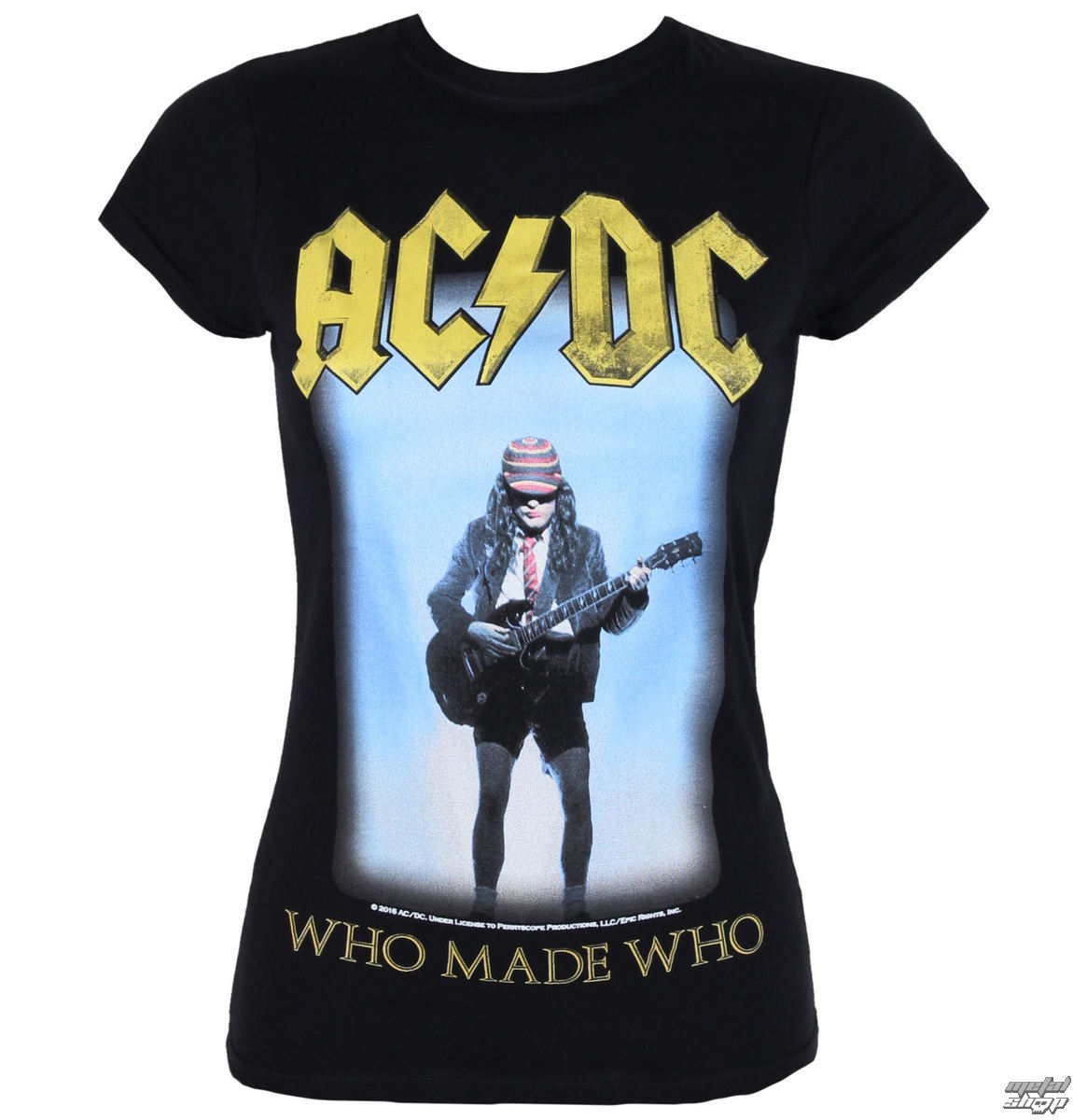 metál póló női AC-DC - Who Made Who - LOW FREQUENCY - ACGS050015 ... 65305fd5a0