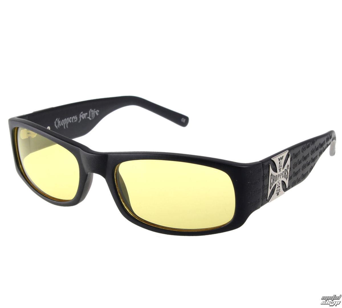 West Coast Choppers szemüveg - WCC GANGSCRIPT - MATTE BLACK YELLOW ... d4298438f3