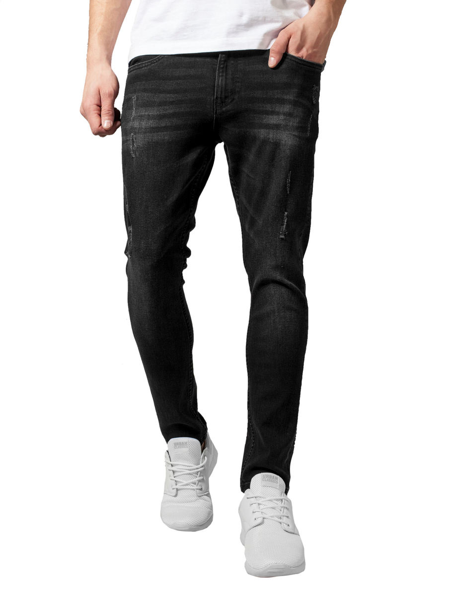 c273eff642 URBAN CLASSICS Férfi nadrág - Skinny Ripped Stretch Denim ...