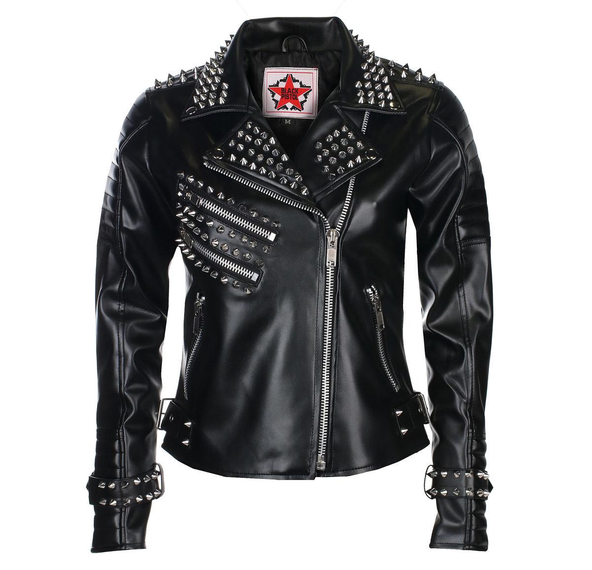 Női (motoros) dzseki BLACK PISTOL Rockers Lady Ég Fekete