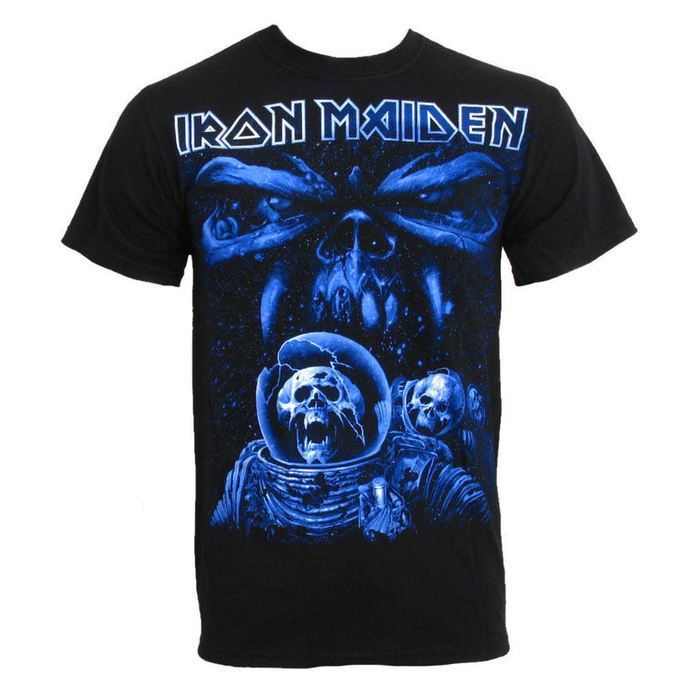 metál póló férfi Iron Maiden - Blue Album Spaceman - ROCK OFF