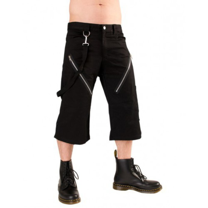 rövidnadrág 3/4 férfi Black Pistol - Zip Short Pants Denim Black