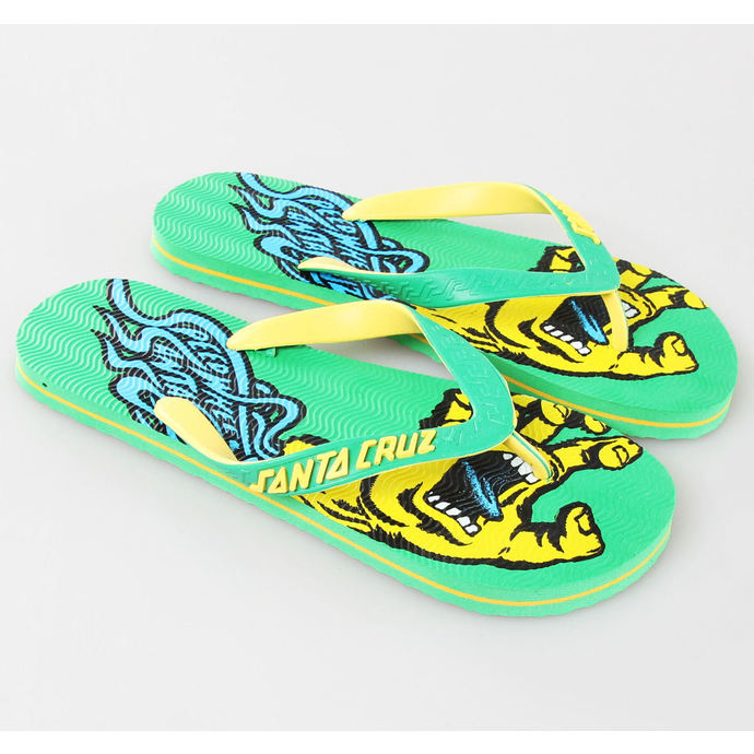 flip-flop női unisex - Screaming Speed - SANTA CRUZ - Green