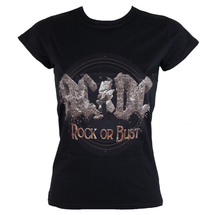 metál póló női AC-DC - Rock or Bust - ROCK OFF