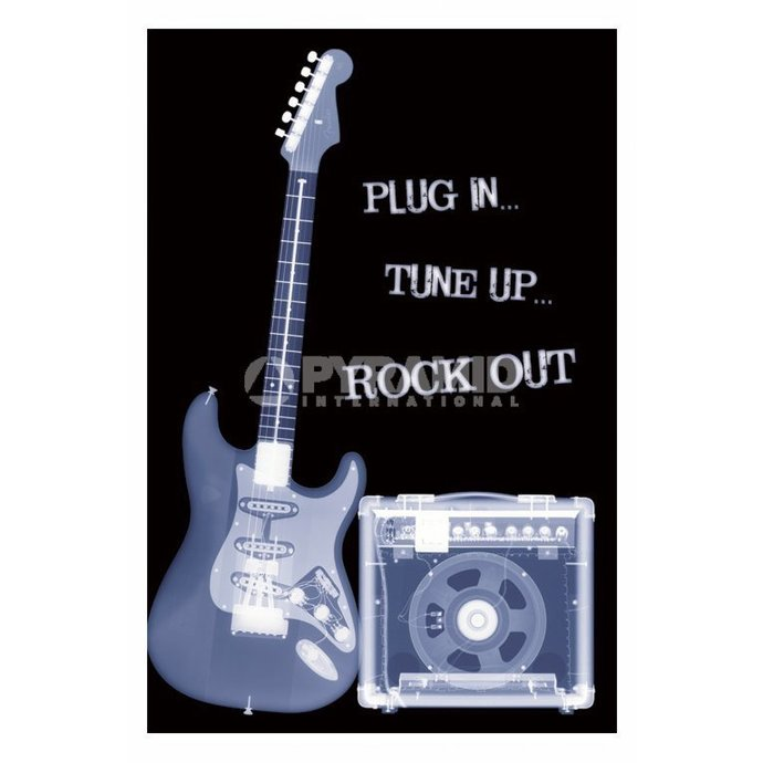 poszter Plug In... Tune Up ... Rock Out - PP31159