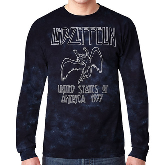 metál póló férfi Led Zeppelin - USA TOUR '77 - LIQUID BLUE, LIQUID BLUE, Led Zeppelin