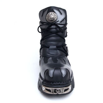 bőr csizma - Flame Shoes (288-S2) Black-Grey - NEW ROCK