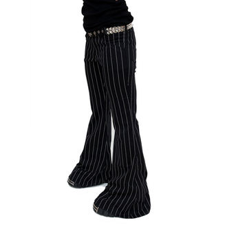 nadrág női Mode Wichtig - Flares Pin Stripe Black-White, MODE WICHTIG