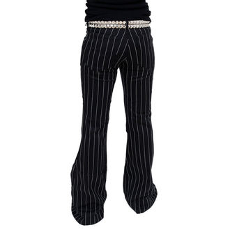 nadrág női Mode Wichtig - Flares Pin Stripe Black-White
