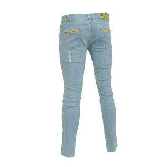 nadrág női (farmer) IRON FIST - Szemgolyó Skinny Denims - BLEACH WASH DENIM - IFL0177