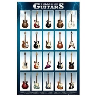 poszter Classic Guitars - GB posters - GN0500