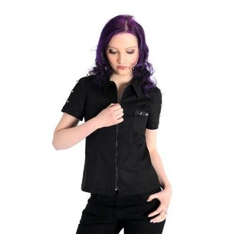 ing női ADERLASS - Prick Blouse Denim Black, ADERLASS