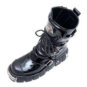 bőr csizma - Bizarre Boots (313-S1) Black - NEW ROCK