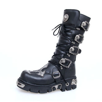 bőr csizma - Cross Boots (403-S1) Black - NEW ROCK - M.403-S1