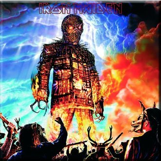 magnet Iron Maiden - Wicker Man Fridge Magnet - ROCK OFF - IMMAG07
