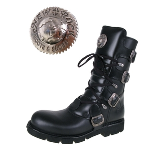 bőr csizma - Flat Classic Boot (1473-S1) Black - NEW ROCK - M.1473-S1