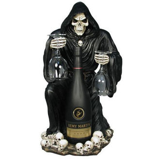 dekoráció, állvány  bor Grim Reaper Bottle and Glass Holder - NEM6307