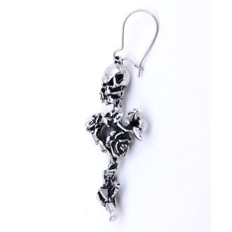fülbevaló Rose Thorn Cross - ALCHEMY GOTHIC - E130