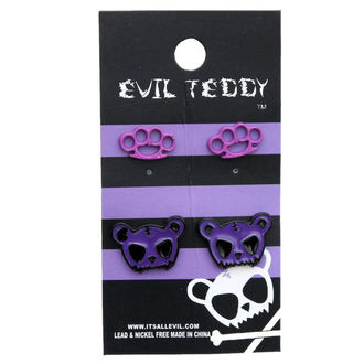 fülbevaló POIZEN INUDSTRIES - ETES1 Teddy Knuckleduster Set - Lila