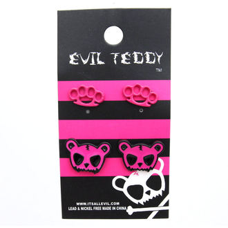fülbevaló POIZEN INUDSTRIES - ETES1 Teddy Knuckleduster Set - Rózsaszín