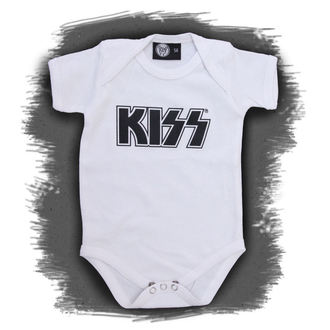 tipegő gyermek Kiss - Logo - White - Metal-Kids