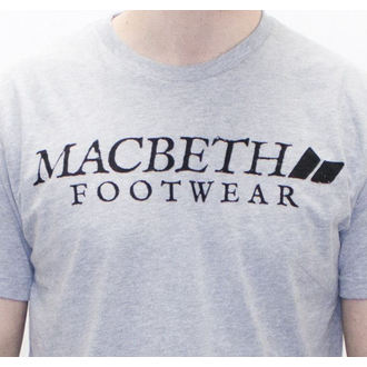 utcai póló férfi - Vintage Logo - MACBETH - Heather Grey Classic