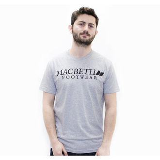 póló férfi MACBETH - Vintage Logo - Heather Grey Classic