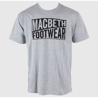 utcai póló férfi - Old Type - MACBETH - Heather Grey Classic