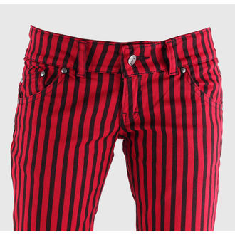 nadrág női 3RDAND56th - Stripe Skinny - JM444 - BLK-RED