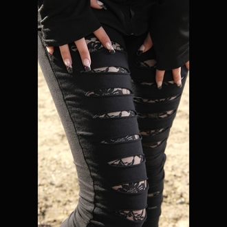 POIZEN INDUSTRIES női nadrág (leggings) - Slasher - Black