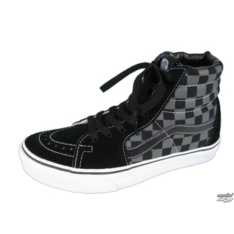 magasszárú cipő - Sk8-Hi - VANS - Black/Pewter Checkerboard