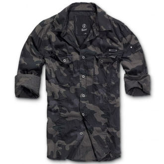 ing férfi Brandit - Men Shirt Slim Darkcamo - 4005/4