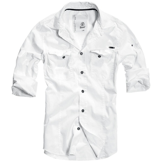 ing férfi Brandit - Men Shirt Slim Weiss - 4005/7
