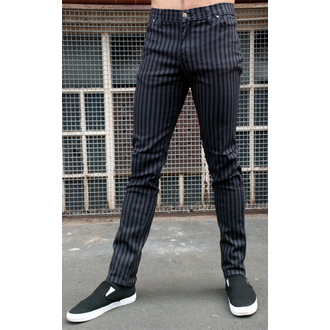 nadrág férfi - 3RDAND56th - Striped Skinny Jeans - Black / Grey - JM1176
