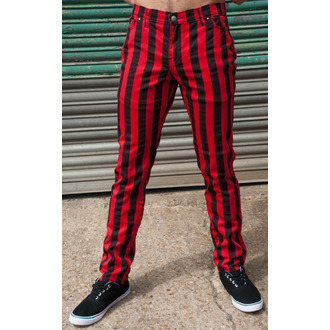 3RDAND56th unisex nadrág - Stripe Skinny - Blk / Red - JM1105
