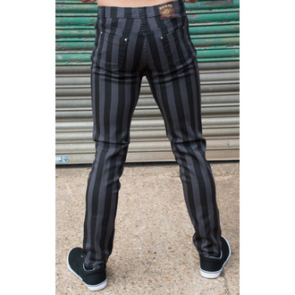 3RDAND56th férfi nadrág - Stripe Skinny - Black / Grey - JM1105