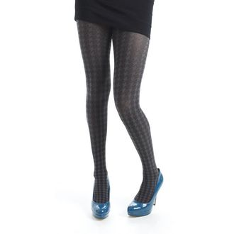 harisnyanadrág PAMELA MANN - Opaque Dogtooth Tights - Grey - 043