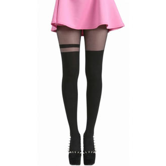 harisnyanadrág PTheMELThe MTheNN - Over The Knee Stripe Tights - Black - 048