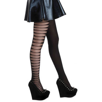 harisnyanadrág PAMELA MANN - Sheer Side Slash Tights - Black - 056