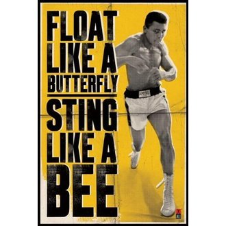 poszter Muhammad Ali - Float Like A Buterfly - PYRAMID POSTERS - PP31685