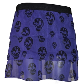 POIZEN INDUSTRIES női szoknya - Skull - Purple