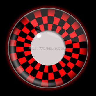 kontakt lencse RED AND BLACK CHECKERS UV - EDIT