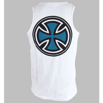 trikó férfi INDEPENDENT - PIN LINED CLASSIC CROSS VEST - WHITE