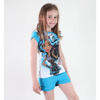 pizsama lány Tv MANIA - Monster High - White/Blue - MOH 545