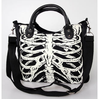 táska, kézitáska BANNED - Glow In The Dark Skeleton - Black - BBN733BLK