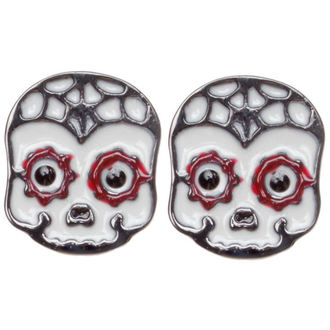 fülbevaló SOURPUSS - Sugar Skull - Red - SPEA7