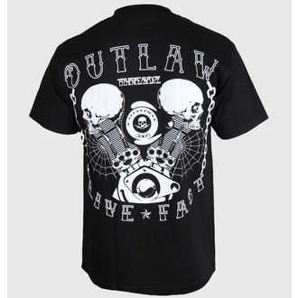 póló férfi női unisex - Live Fast - OUTLAW THREADZ, OUTLAW THREADZ